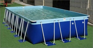 Z Splash Around Aqua Blue rectangle pool