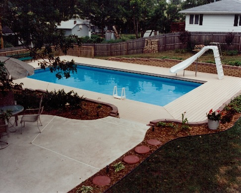 Above ground pool custom decks for Pool design omaha