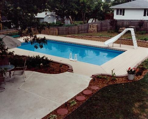 Above ground pool custom decks for Custom made above ground pools